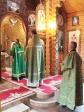 Клирик Успенского собора совершил Литургию в день Святаго Духа в храме скита Покровского монастыря с.Дедово