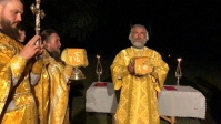 Преосвященнейший епископ Николай совершил Литургию в расположении III ежегодного открытого епархиального туристического фестиваля