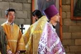 В день происхождение (изнесение) Честных Древ Животворящего Креста Господня, Преосвященнейший епископ Николай совершил Литургию в Никольском храме в Бишкаине