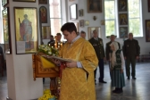 Преосвященнейший епископ Николай совершил Литургию в Иоанно-Предтеченском соборном храме г.Кумертау