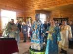 Архипастырское богослужение в Никольском храме с. Дурасово