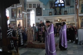 Преосвященнейший епископ Николай совершил вечерню с акафистом Божественным Страстям Христовым в храме г.Кумертау