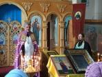 """Преосвященнейший епископ Николай совершил малую вечерню с акафистом пред иконой Божией Матери, именуемой """"Табынская"""", в Троицком храме в Бижбуляке"""