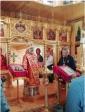 Преосвященнейший епископ Николай совершил Божественную литургию в храме во имя мученика Вонифатия в с.Михайловка
