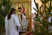 Преосвященнейший епископ Николай совершил Божественную литургию в Богородице-Казанском храме г.Мелеуза