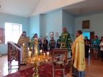 Преосвященнейший епископ Николай совершил Литургию в храме преподобного Серафима Саровского с.Крымский