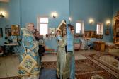 В канун праздника Покрова Пресвятой Богородицы Преосвященнейший епископ Николай совершил всенощное бдение в храме с.Корнеевка