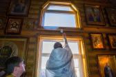 """В Неделю 23-ю по Пятидесятнице Преосвященнейший Владыка Николай возглавил чин великого освящения верхнего придела храма в честь иконы Божией Матери """"Неупиваемая Чаша"""" в Мусино, а также совершил Литургию в новоосвящённом храме"""