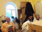 В день памяти святителя Иоасафа Белгородского Преосвященнейший епископ Николай совершил чин великого освящения Князь-Владимирского храма с.Камчалытамак и Литургию в новоосвященном храме