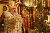 В канун Рождества Христова Преосвященнейший епископ Николай совершил всенощное бдение в Успенском кафедральном соборе города Салават