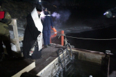 В канун праздника Святого Богоявления Преосвященнейший епископ Николай совершил великое освящение воды на реке Белой в районе станции МЧС города Салават