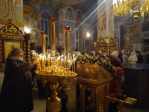 В канун праздника Крещения Господня Преосвященнейший епископ Николай совершил всенощное бдение в Успенском кафедральном соборе города Салават