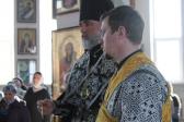 Преосвященнейший епископ Николай совершил вечерню с акафистом Божественным Страстям Христовым в Иоанно-Предтеченском храме города Кумертау