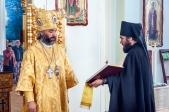 Божественная литургия в Покровском мужском монастыре с. Дедово Федоровского района