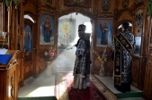 Епископ Николай совершил Литургию Преждеосвященных Даров в храме в честь блж.Варвары Скворчихинской в с.Нугуш