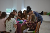 Воспитанницы Воскресной школы собора посещали мастер-классы по рукоделию от Арт-проекта «Территория рукоделия»