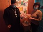 Посещение дома престарелых и социального приюта для детей в Бижбулякском округе в день Рождества Христова