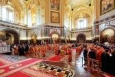 Епископ Николай принял молитвенное участие в Божественной литургии в кафедральном соборном Храме Христа Спасителя