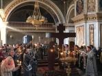 В канун пятницы Страстной седмицы Преосвященнейший епископ Николай принял молитвенное участие в утрене с чтением двенадцати Страстных Евангелий в кафедральном соборе Рождества Богородицы в Уфе